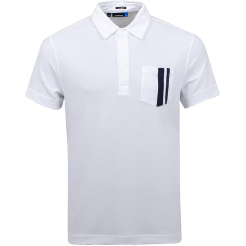 J. Lindeberg M Owen Regular Fit Lux Pique Polo in White Polo Shirts J. Lindeberg