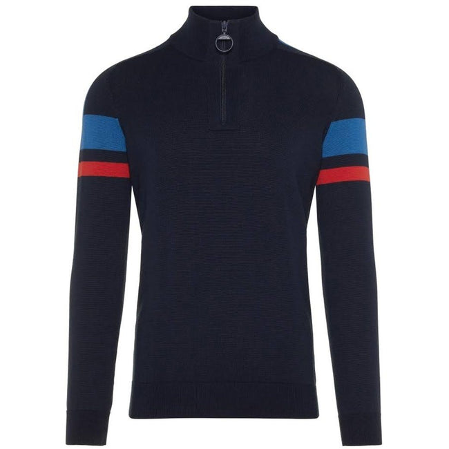J. Lindeberg M Case Cotton CoolMax Jumper in Navy Jumpers J. Lindeberg