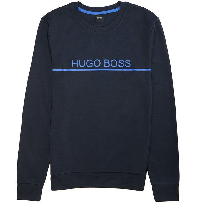 BOSS Bodywear Track Sweatshirt in Navy Jumpers BOSS