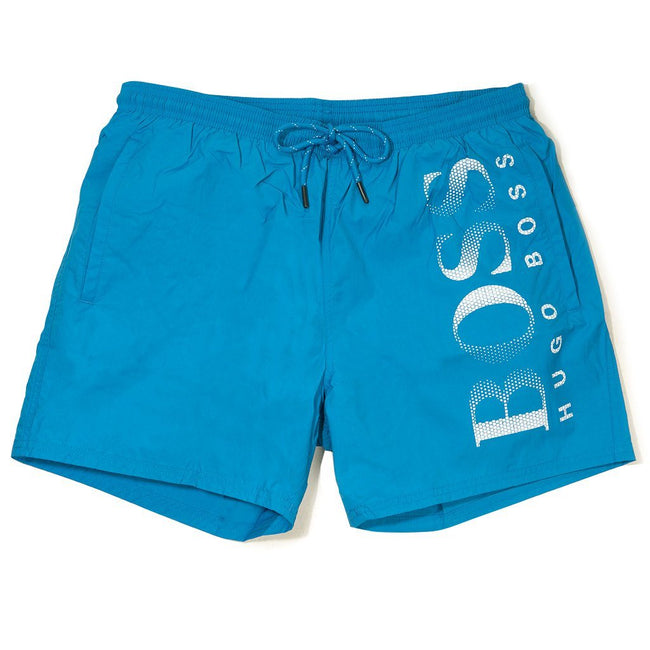 BOSS Athleisure Octopus Swim Shorts in Light Blue Swimwear BOSS