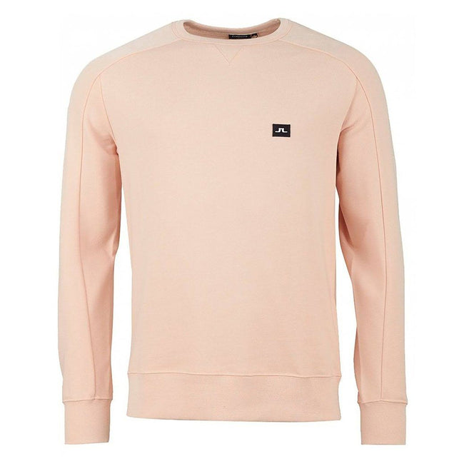 J. Lindeberg Throw Crew Neck Ring Look Sweat in Summer Beige