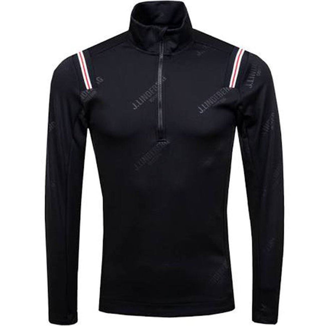 J. Lindeberg M Gavin Quarter Zip TX Mid in Black