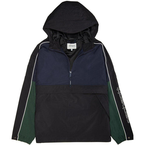 Carhartt Terrace Pullover in Dark Navy/ Black/ Bottle Green Coats & Jackets Carhartt