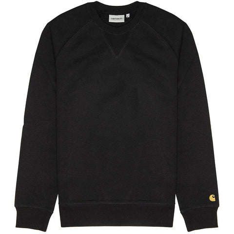 Carhartt Chase Sweatshirt in Black/ Gold sweatshirt Carhartt