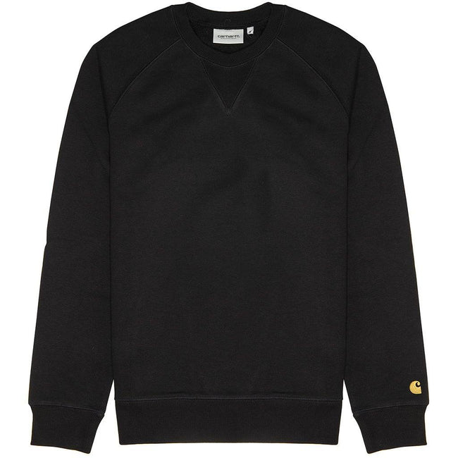 Carhartt Chase Sweatshirt in Black/ Gold