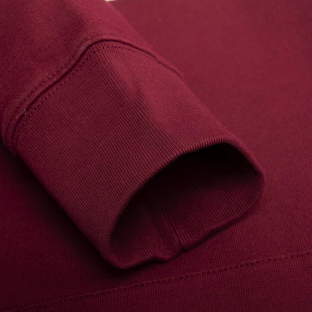 Carhartt Hooded College Sweat in Cranberry/ White