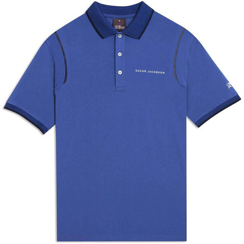 Oscar Jacobson Keaton Course Polo Shirt in Blue Grass Polo Shirts Oscar Jacobson