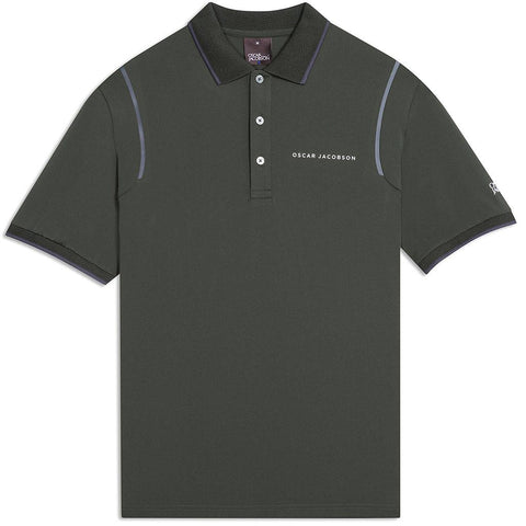 Oscar Jacobson Keaton Course Polo Shirt in Emerald Polo Shirts Oscar Jacobson