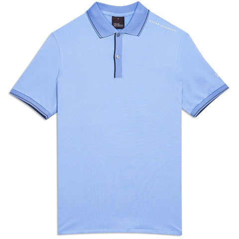 Oscar Jacobson Falcon Course Golf Polo Shirt in Light Blue Polo Shirts Oscar Jacobson
