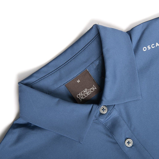 Oscar Jacobson Chap Course Polo Shirt in Petrol Blue
