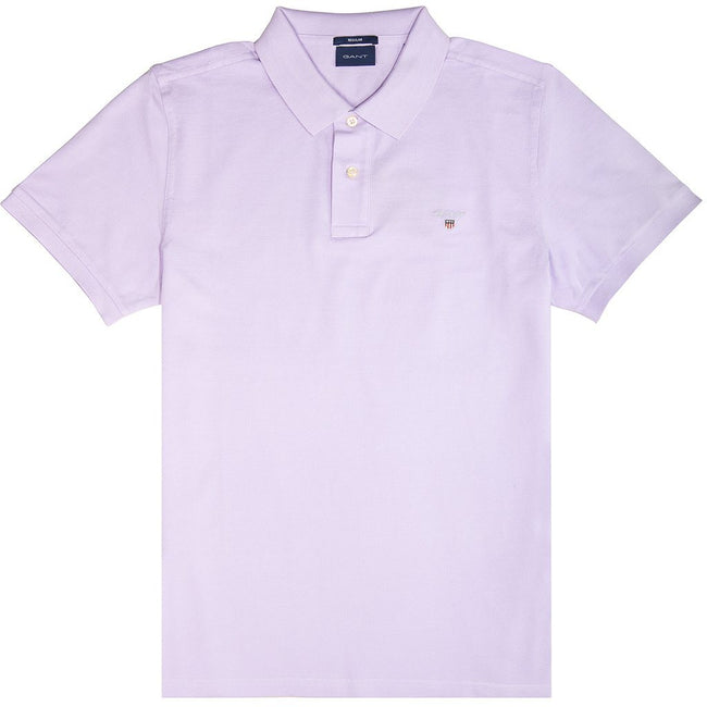 Gant Original Pique Short Sleeved Rugger Polo In Soft Violet Polo Shirts Gant
