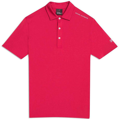 Oscar Jacobson Chap Course Polo Shirt in American Red Polo Shirts Oscar Jacobson