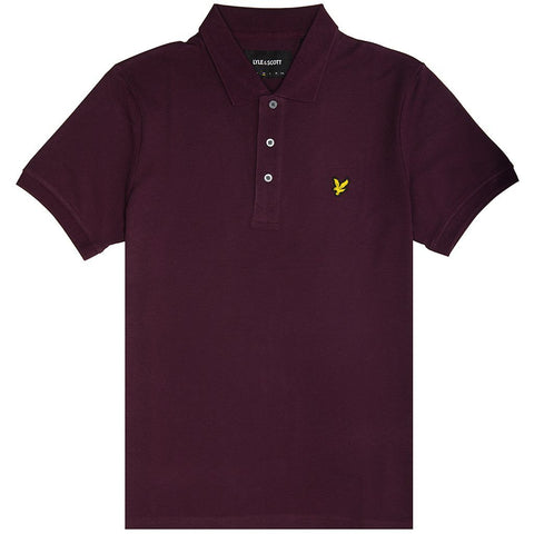 Lyle & Scott Plain Polo Shirt in Burgundy Polo Shirts Lyle & Scott