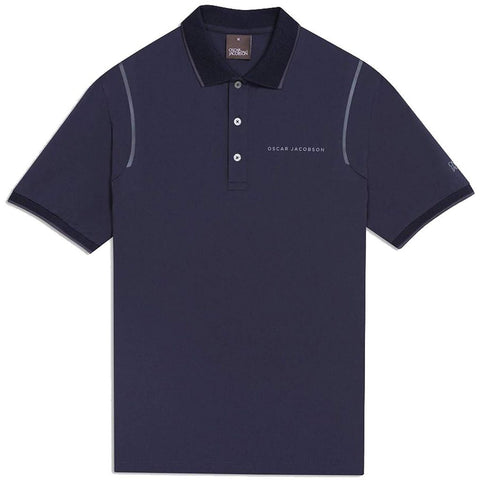 Oscar Jacobson Keaton Course Polo Shirt in Navy Polo Shirts Oscar Jacobson