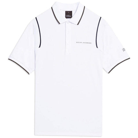Oscar Jacobson Keaton Course Polo Shirt in Creme Polo Shirts Oscar Jacobson