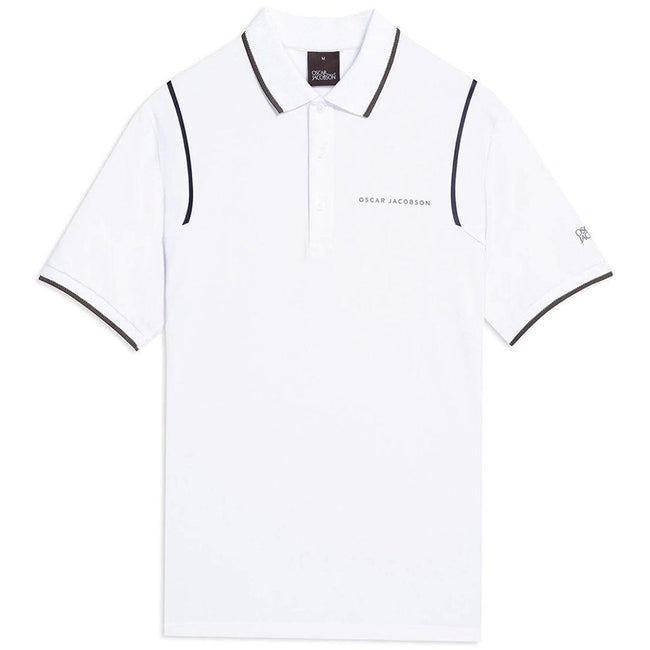 Oscar Jacobson Keaton Course Polo Shirt in Creme