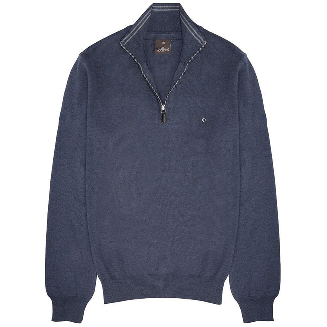 Oscar Jacobson Waldorf Pin Half Zip in Blue Grass