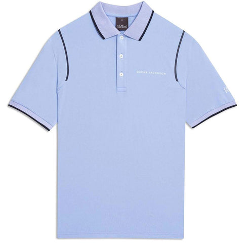Oscar Jacobson Keaton Course Polo Shirt in Light Blue Polo Shirts Oscar Jacobson