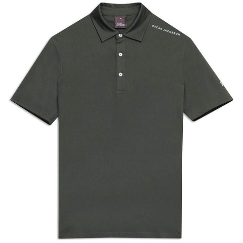 Oscar Jacobson Chap Course Polo Shirt in Emerald Polo Shirts Oscar Jacobson