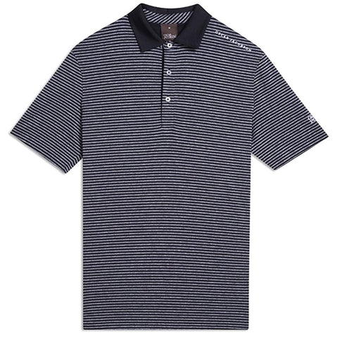 Oscar Jacobson Chester Course Polo Shirt in Black Polo Shirts Oscar Jacobson