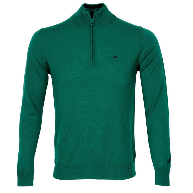 J. Lindeberg M Kian 2.0 Tour Merino Sweater in Golf Green Jumpers J. Lindeberg