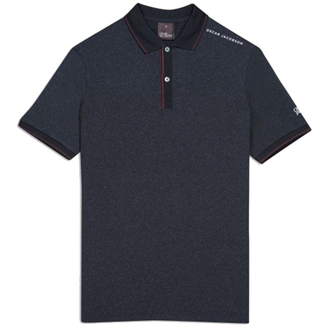 Oscar Jacobson Falcon Course Golf Polo Shirt in Black