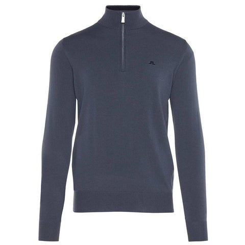 J. Lindeberg M Kian 2.0 Tour Merino Sweater in Dark Grey Jumpers J. Lindeberg
