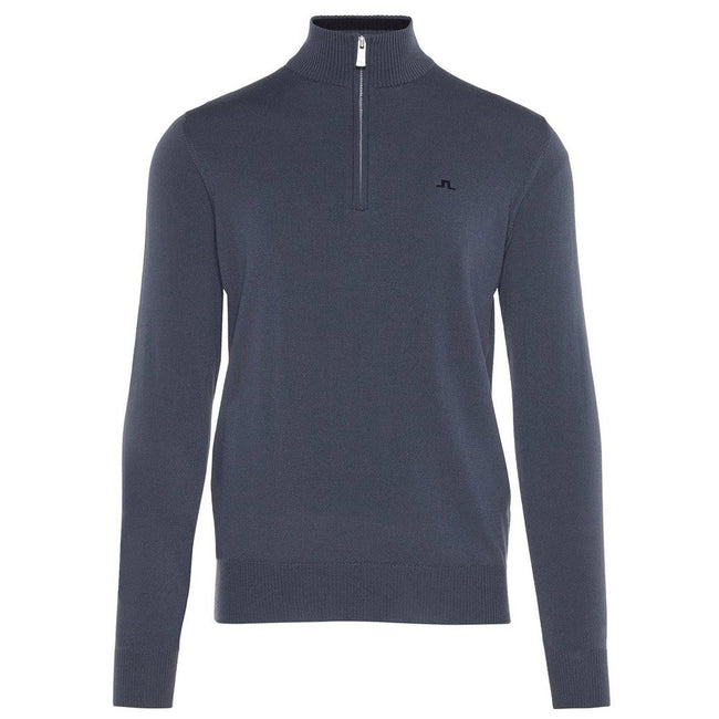 J. Lindeberg M Kian 2.0 Tour Merino Sweater in Dark Grey