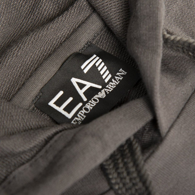 Emporio Armani EA7 Hooded Sweatshirt in Asphalt Grey Hoodies Emporio Armani EA7
