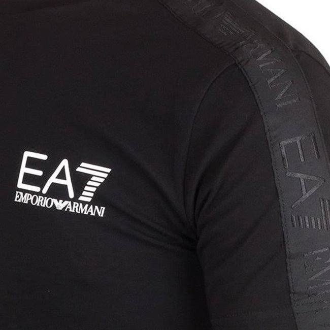 EA7 Emporio Armani Tapered Sleeve T-Shirt in Black