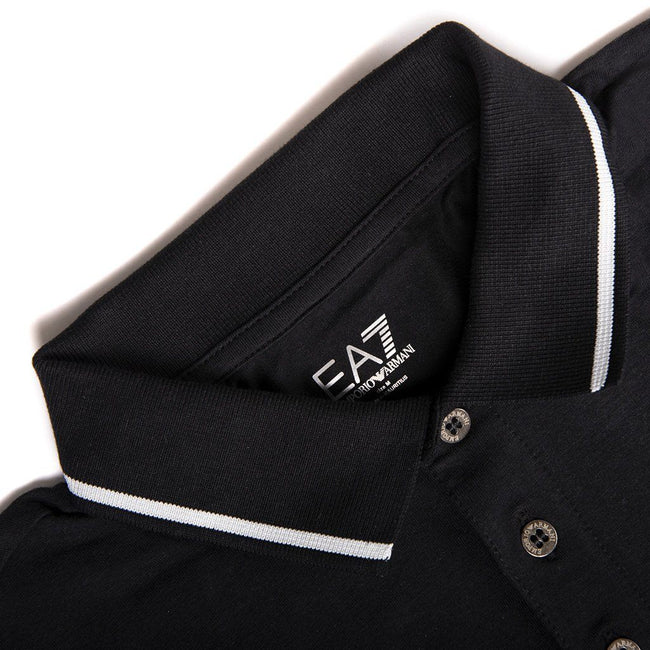 Emporio Armani EA7 Core ID Polo Shirt in Black Polo Shirts Emporio Armani EA7