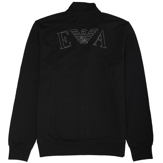 Emporio Armani Long Sleeved Zip Sweater in Black sweatshirt Emporio Armani