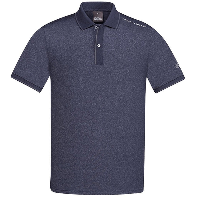 Oscar Jacobson Falcon Course Golf Polo Shirt in Navy