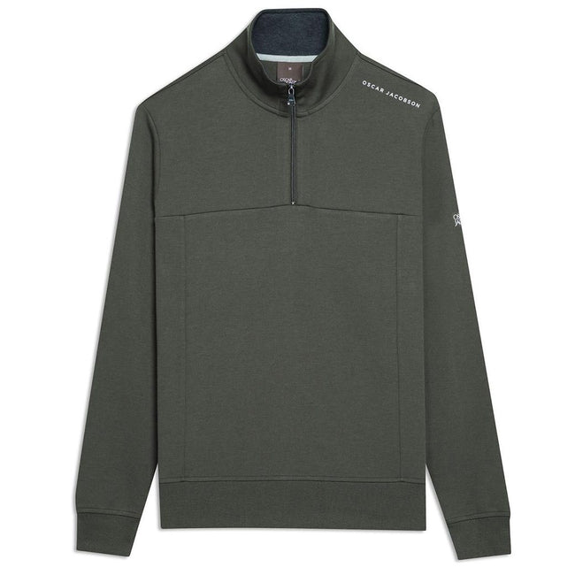 Oscar Jacobson Hawkes Course Half Zip Pullover in Emerald