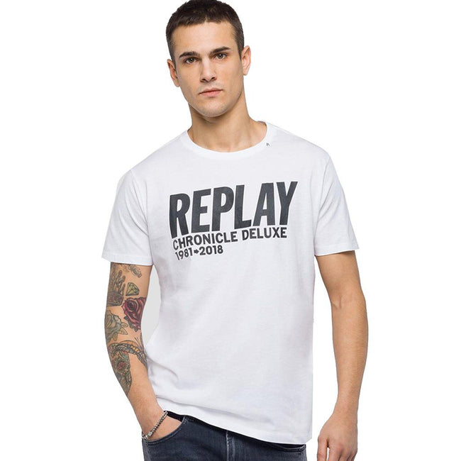 Replay Chronicle Deluxe T-Shirt in White