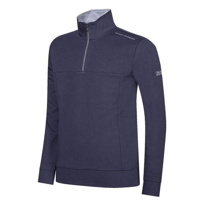 Oscar Jacobson Hawkes Course Half Zip Pullover in Navy