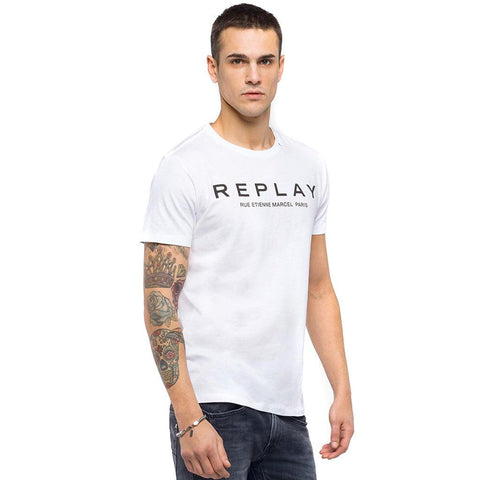 Replay Rue Etienne Marcel T-Shirt in White T-Shirts Replay