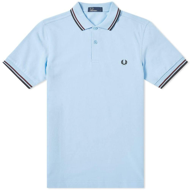 Fred Perry M3600 Twin Tipped Polo Shirt in Summer Blue