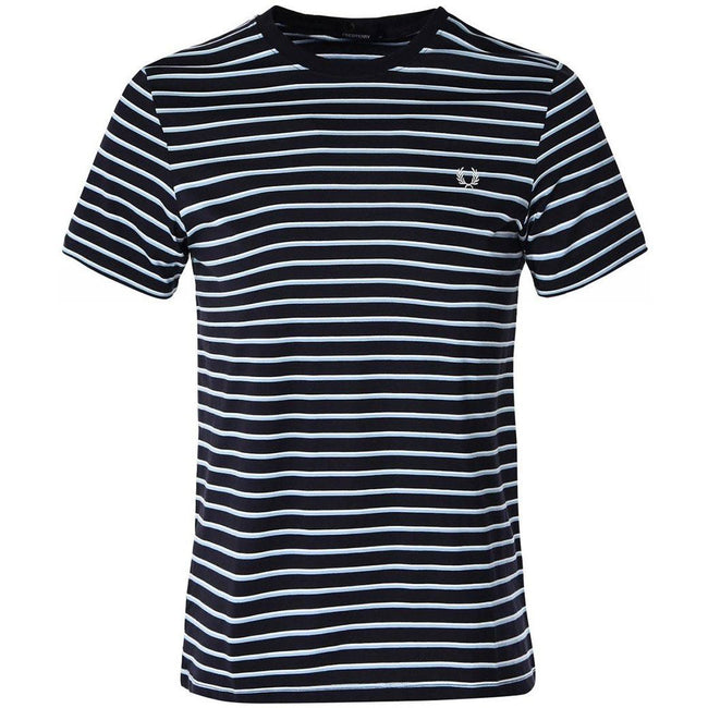Fred Perry M5573 Striped T-Shirt in Navy