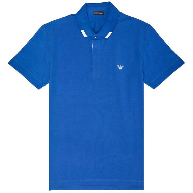 Emporio Armani Short Sleeved Polo Shirt in Nautical Blue Emporio Armani