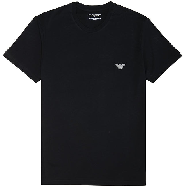Emporio Armani Iconic Crew Neck T-Shirt in Black T-Shirts Emporio Armani
