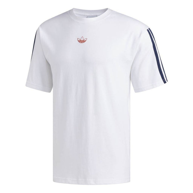 Adidas DV3260 Floating Trefoil Tee in White T-Shirts adidas