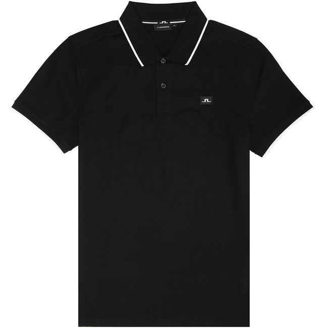 J. Lindeberg Roy Clean Pique Polo Shirt in Black