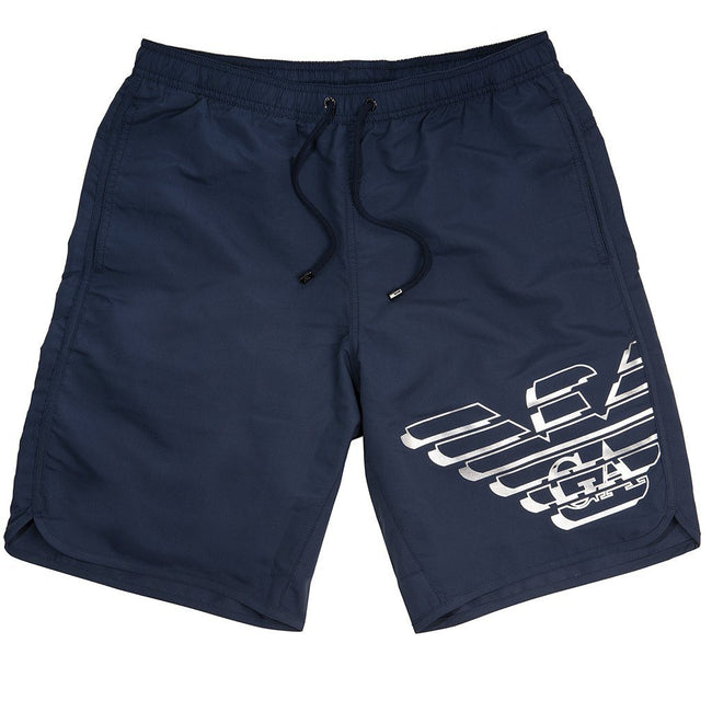 23f5ee17 Sale. Emporio Armani Beachwear Long Boxer in Navy Blue Swimwear Emporio  Armani