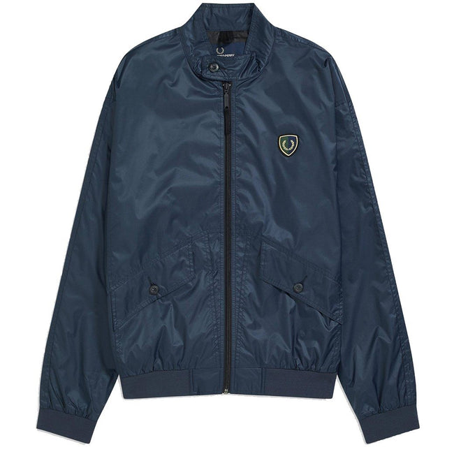 Fred Perry J5519 Shield Badge Harrington Jacket in Dark Air Force Coats & Jackets Fred Perry
