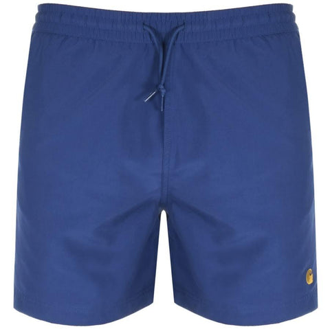 Carhartt Chase Swim Trunks in Metro Blue/ Gold Swimwear Carhartt