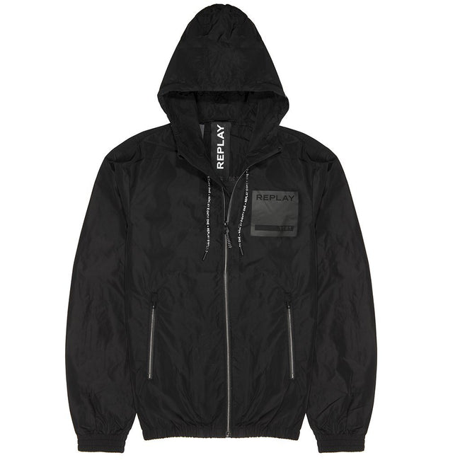 Replay Patch Jacket in Black
