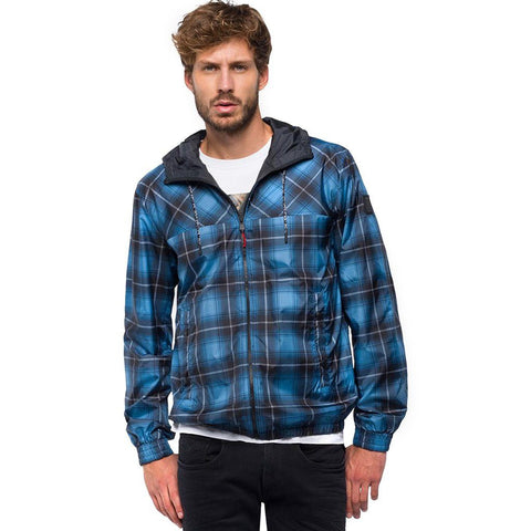 Replay Reversible Jacket with hood in Black/ Blue Coats & Jackets Replay