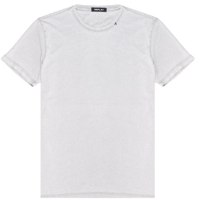 Replay Vintage Effect T-Shirt in Light Grey T-Shirts Edwards Menswear