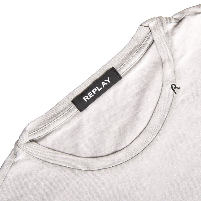 Replay Vintage Effect T-Shirt in Light Grey